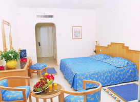 Chambre hôtel El Mouradi El Menzah à Hammamet